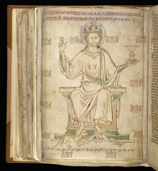 Drawing By Matthew Paris Of Christ In Majesty, In A Compilation Of John Of Wallingford's Works